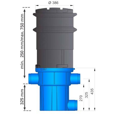 Regenwasserfilter extern Retentionsfilter RVF +Tele Abgang seitlich – Bild 2