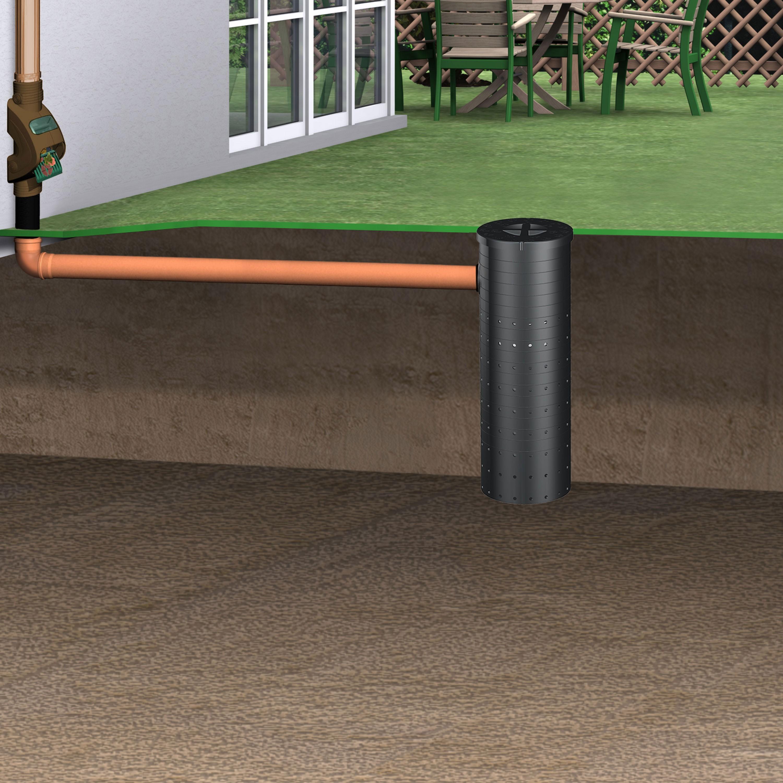 regenwasser versickerungsschacht sickerschacht 140 l inkl. Black Bedroom Furniture Sets. Home Design Ideas
