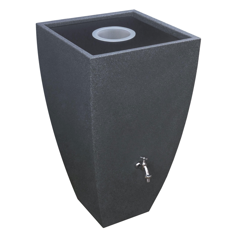 regentonne eckig wandtank modena 350 liter black granit. Black Bedroom Furniture Sets. Home Design Ideas