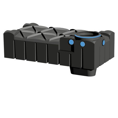 Flachtank F-LINE 1500 Liter SOLO ohne Deckel -TOPPREIS -