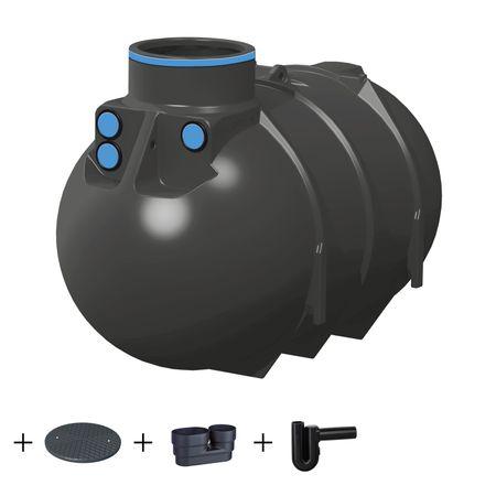 Erdtank BlueLine II 2600 Liter STANDARD inkl. Zubehör