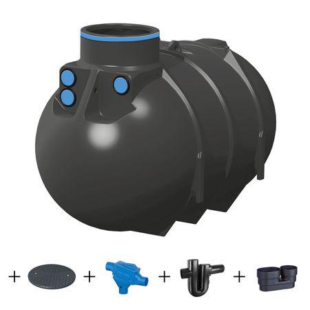 Erdtank BlueLine II 2600 Liter - PROFI - Komplettanlage