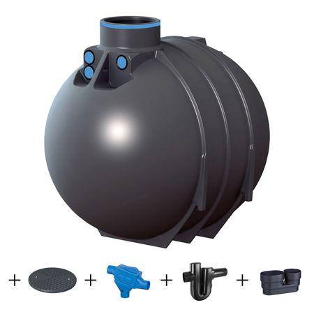 Regenwassertank BlueLine II 5200 Liter PROFI  Komplettanlage