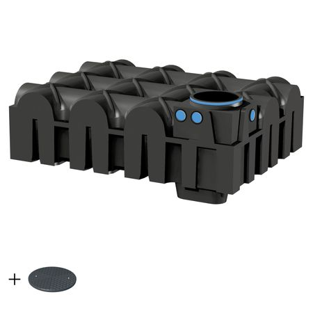 Zisterne flach F-LINE 5000 Liter BASIC inkl. Deckel TopCover