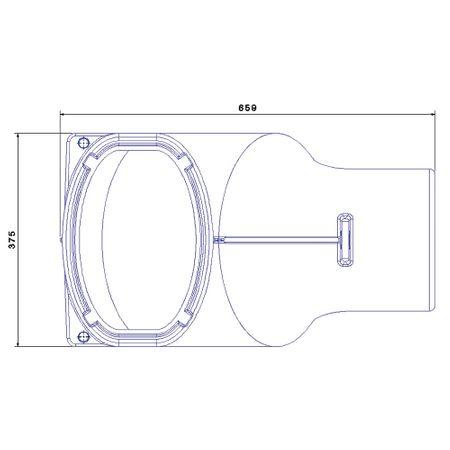 Überlaufsiphon DN 250 mit Nagetiersperre – Bild 3