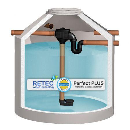 Regenwasserzisterne 4360 L PROFI, mit V2A Siphonfilter