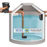 Regenwasserzisterne 8000 L mit Volumenfilter und Siphon