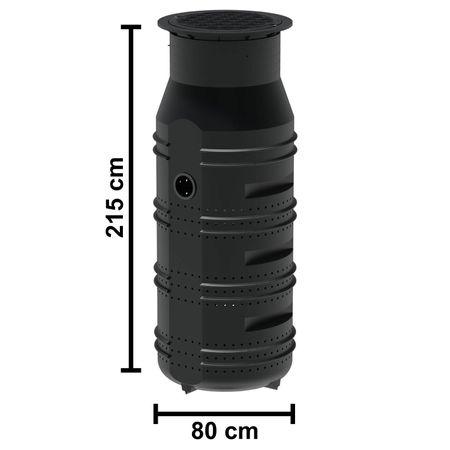 Sickerschacht 950 L, inkl. Abdeckung mit Grobschmutzfilter, Zulauf DN 110  – Bild 3