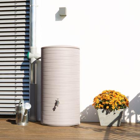 Regenwassertonne Novara 285 Liter taupe