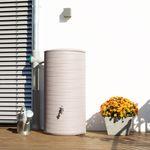 Regenwassertonne Novara 285 Liter taupe 001