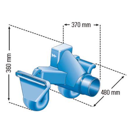 Regenwasser Überlaufsiphon MONO mit Skimmer – Bild 2