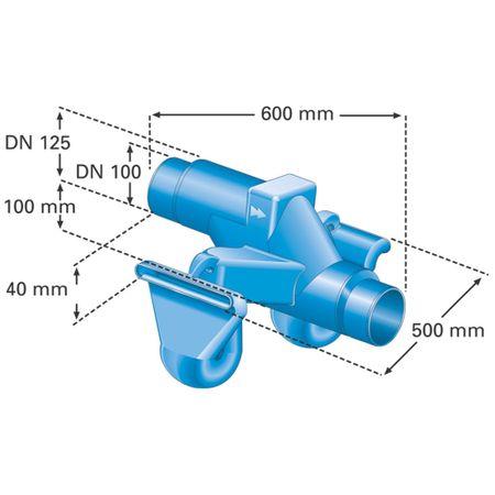 Überlaufsiphon DUO Nennweite DN 100