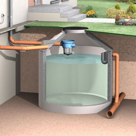 Regenwasserfilter Gartenkorbfilter mit Kunststoffsieb – Bild 5