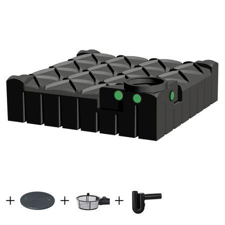 Zisterne flach 3000 l - REGENTA GARTEN - inkl. Filter