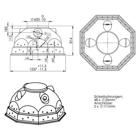 Spar-Set Schacht VS 60 mit Schachtabdeckung TopCover