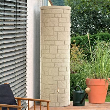 Regentonne Arcado 460 liter sandstein
