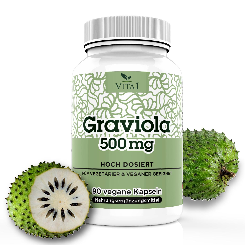 Vita1 Graviola Kapseln 90x 500 Mg Fuhldichgesund Herz Kreislauf
