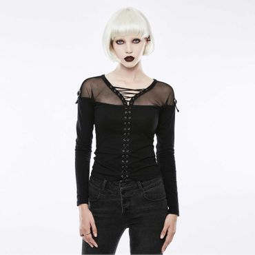 PUNK RAVE Tied Up Gothic Shirt