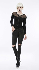 Detailbild zu PUNK RAVE Tied Up Gothic Shirt