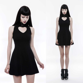 PUNK RAVE Queen Of Hearts Mini Kleid