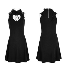 Detail image to PUNK RAVE Queen Of Hearts Mini Dress