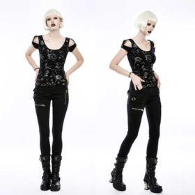 PUNK RAVE Black Skinny Jeans