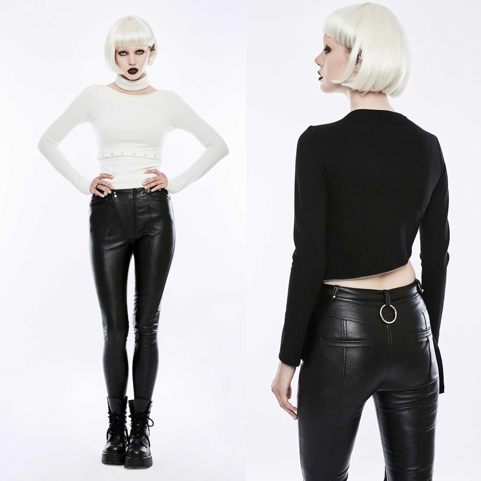 punk rave moto queen pants damen kunst lederhose schwarz. Black Bedroom Furniture Sets. Home Design Ideas