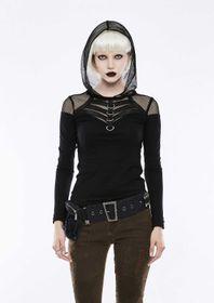 Detailbild zu PUNK RAVE Gothic Fishnet Hoodie Top