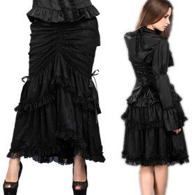 DARK IN LOVE Dark & Long Gothic Skirt
