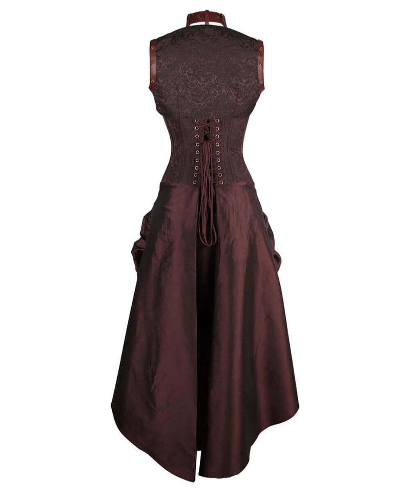 Braunes knielanges kleid