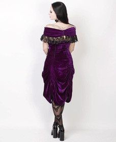 Detailbild zu VINTAGE GOTH Velvet Dream Dress Purple