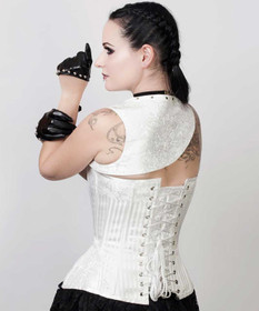 Detail image to VINTAGE GOTH White Dream Corset w. Semi-Bolero