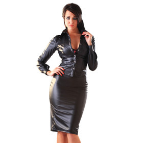 HONOUR Leatherette Pencil Skirt