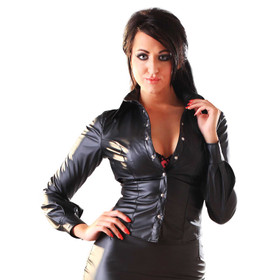 HONOUR Seductress Leatherette Shirt