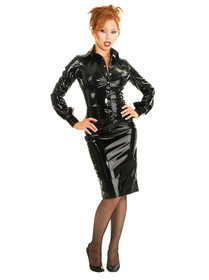 Detail image to HONOUR Seductress PVC Shirt Black