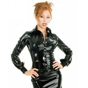 HONOUR Seductress PVC Shirt Black