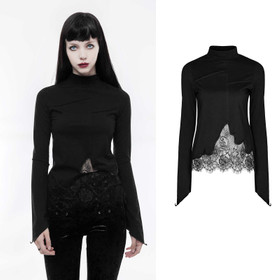Detail image to PUNK RAVE Asymmetric Gothic Top