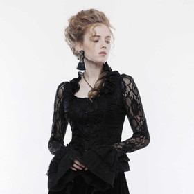 Detail image to PUNK RAVE Gothic Lace Blouse Shirt