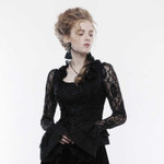 PUNK RAVE Gothic Lace Blouse Shirt 001