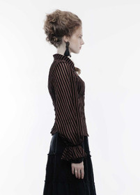 Detail image to PUNK RAVE Sheer Stripe Shirt Copper