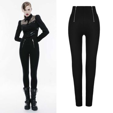PUNK RAVE High Waist Zip Leggings