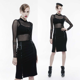 PUNK RAVE Uniform Skirt Black