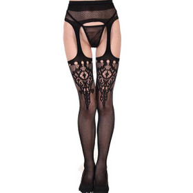 Suspender Lace Fishnet Tights