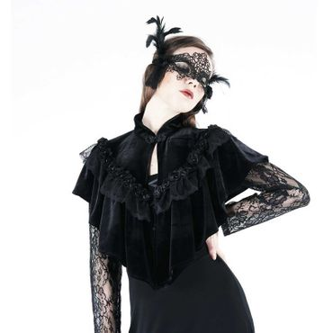 DARK IN LOVE Gothic Velvet Cape