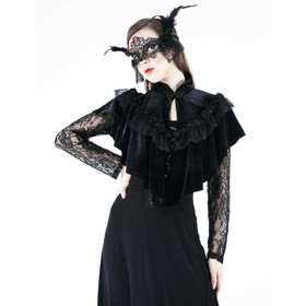 Detail image to DARK IN LOVE Gothic Velvet Cape