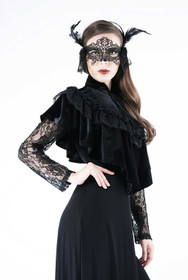 Detailbild zu DARK IN LOVE Gothic Samt-Cape