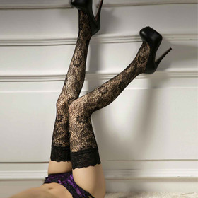 CANDIWAY Flowers Lace Stockings