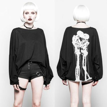 PUNK RAVE Death Kiss Oversized Sweater