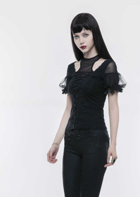 Detail image to PUNK RAVE Racer Back Gothic Top