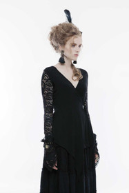 Detail image to PUNK RAVE Gothic Wrap Top